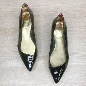 Ted Baker Pasces Patent Leather Point Toe Loafers